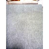 Sisal Look Indoor Outdoor Runner by the Silver Grey 80cm 1m 1.2m or 2m Wide Flat-weave