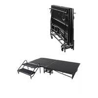 Stage Portable Mobile Folding 1.22x2.44m Black Adjustable Online