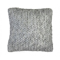 Chunky Handwoven Braided Weave Deluxe Wool & Art-Silk Cushion Cover 50x50cm - Online