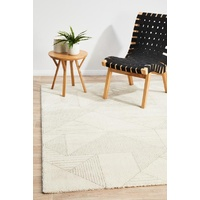 Modern Alps Design Short Shag Natural Geometric Floor Area Rugs