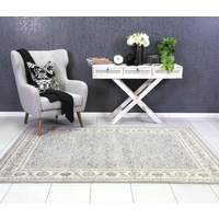Traditional Thrones Allover Floral Vines Design Grey Floor Area Rugs and Runners