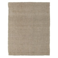 Chunky Natural Fiber Barim Silver Floor Area Rug and Runners