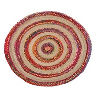 Round Floor Area Rugs Target Cotton and Jute Natural Fiber Multi Agra