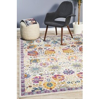 Bright Traditional Euphrates Design Multi Floral Symmetry Floor Area Rugs Runners and Circles
