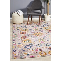 Bright Traditional Euphrates Design Multi Floral Vines Floor Area Rugs Runners and Circles