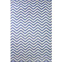 Bright Modern Rugs Retro Funk Steps Blue White
