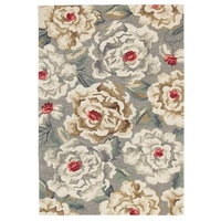 Carnation Design Marmaris Floor Area Rug Grey Indoor Outdoor