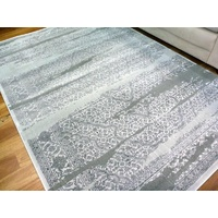 Traditional Worn Design Floor Area Rugs Persistence Medallions Grey