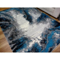 Diamond Teal Mystery Bright Modern Design 12mm Thick Floor Area Rugs