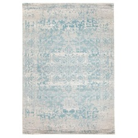 Persian Design Transitional Floor Area Rug Istanbul White Blue Wash Allover