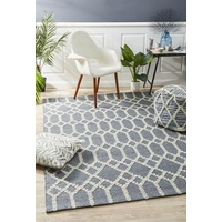 Flatwoven Destiny Design Trellis Floor Area Rug Blue