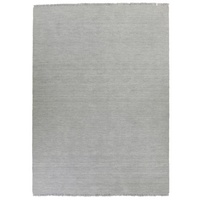 Nathir Design Hand Loomed Fringed Wool and Cotton Floor Area Rug Grey