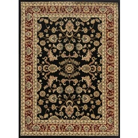 Online Persian Rugs Classical 500 Black Red Allover Floor Area Rugs and Runners