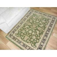 Online Persian Rugs Classical 500 Green Black Allover Floor Area Rug and Runners