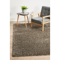 Modern Languid Design Brown Shag Floor Area Rugs