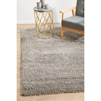 Modern Languid Design Silver Shag Floor Area Rugs