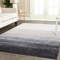 Modern Serenity Design Graduation Charcoal Grey Floor Area Rug