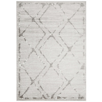 Emberlain Design Washed Out Tiles Floor Area Rug Silver