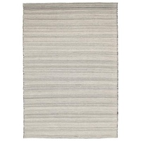 Modern Cottage Design Simple Wool Cotton Flatweave Floor Area Rug Ivory