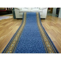 Clearance Ready to go Hall Runners from end of Rolls Epos 67cm wide Blue