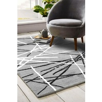 Modern Malaga Design Grey Sticks Floor Area Rugs