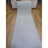 Hall Runner by the Meter Loop Pile Rubber Backed Grey Plain 67 or 80cm wide Stain Resistant