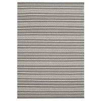 Modern Deco Design Detailed Lines Flatweave Wool Floor Area Rug Grey
