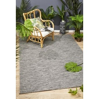 Indoor Outdoor Flatwoven Portico Design Grey Small Diamonds Floor Area Rugs and Runners
