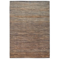 Jute and Cotton Looped Flatweave Natural Black Solomon Floor Area Rugs and Runner