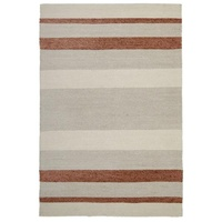 FlatWoven Pile 80% Cotton 20% Wool Copper Floor Area Rug Living Cloth Backed