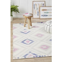 Bright Bohemian Tanzania Design Pastel Diamonds Floor Area Rugs
