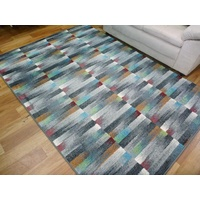 Bright Modern Floor Rugs Mirage Multi Colored Rectangles