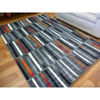 Bright Modern Floor Area Rugs Mirage Grey Columns
