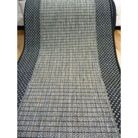 Clearance Hall Runner Metal Grey Black Sunrise Flat-weave 67 or 80cm Wide End of Roll Edged