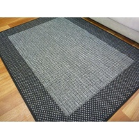 Sunrise Silver/Grey Black Flatweave Area Floor Rugs also Hall Runners