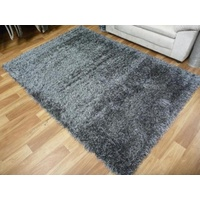 Shaggy Luscious Anthracite 50mm Thick Soft Feel Floor Area Rugs
