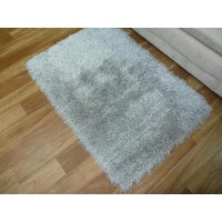 Shaggy Luscious Grey 50mm Thick Soft Feel Floor Area Rugs