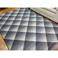 Intrend 3D Squares Grey Contemporary Design Modern Floor Area Rugs