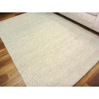 Handwoven Sumak Weave Wool & Art-Silk Ishka Empire Beige Area Floor Rug