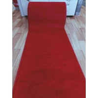 Red Wedding Event Washable Carpet Runner Rolls by the Meter 80, 100 or 120cm Wide 11mm Thick