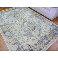 Worn Look Design Cream Soft Feel Raffia Diamond 11mm Thick Floor Area Rug