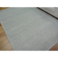 Hand Knotted Slate Romance NZ Wool Chunky Loop Ball Pile Textured Floor Area Rug