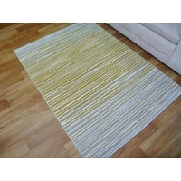 Mustard Faded Lines Port Modern Design Soft Feel Floor Area Rugs
