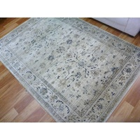 Persian Wash Design Floor Area Rugs & Runner Chorus Beige Allover Soft Feel