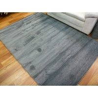 Contemporary Vogue Lush Pile Low Sheen Dark Grey Plain Floor Area Rugs