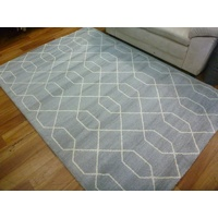 Contemporary Vogue Lush Pile Low Sheen Grey Mesh Floor Area Rugs