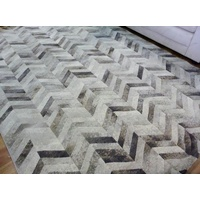 Aurora Creams Greys Chevron Dark Modern Design Soft High Quality Floor Area Rugs